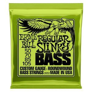 Ernie Ball 2832 Regular Slinky Nickel Wound Electric Bass Strings – .050-.105