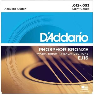 D'Addario EJ16 – Phosphor Bronze Light Acoustic Strings