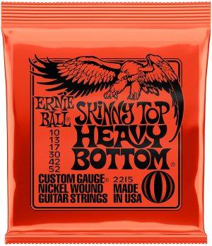 Ernie Ball 2215 Skinny Top Heavy Bottom Slinky Nickel Wound Electric Guitar Strings – .010-.052