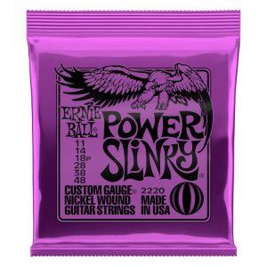 Ernie Ball 2220 Power Slinky Nickel Wound Electric Guitar Strings – .011-.048