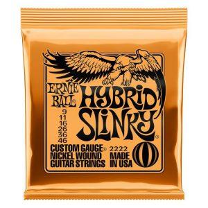 Ernie Ball 2222 Hybrid Slinky Nickel Wound Electric Guitar Strings – .009-.046