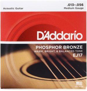 D'Addario EJ17 – Phosphor Bronze Medium Acoustic Strings
