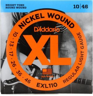 D'Addario EXL110 Nickel Wound Electric Strings – .010-.046 Regular Light