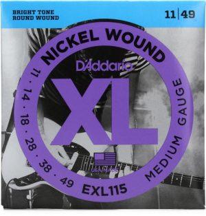 D'Addario EXL115 Nickel Wound Electric Strings – .011-.049 Medium/Blues-Jazz Rock