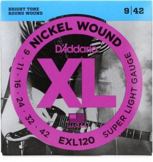 D'Addario EXL120 Nickel Wound Electric Strings – .009-.042 Super Light