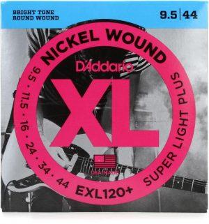D'Addario EXL120+ Nickel Wound Electric Strings – .0095-.044 Super Light Plus