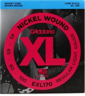 D'Addario EXL170 Regular Light Nickel Wound Long Scale Bass Strings – .045-.100