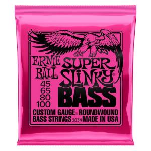 Ernie Ball 2834 Super Slinky Nickel Wound Electric Bass Strings – .045-.100