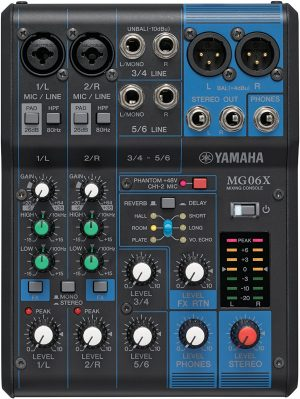 YAMAHA MG06X 6-Input Compact Stereo Mixer With Effects