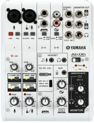 Yamaha AG06 6-channel Mixer and USB Audio Interface