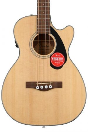 Fender CB-60SCE Concert Acoustic-Electric Bass Guitar – Natural