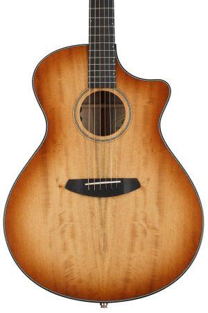 Breedlove Oregon Concerto CE Acoustic-Electric Guitar – Cinnamon Burst Myrtlewood