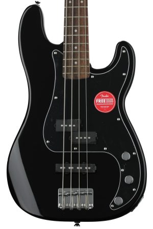 Squier Affinity Series Precision Bass PJ – Black with Indian Laurel Fingerboard