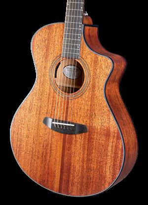Breedlove Organic Wildwood Concert CE Acoustic-Electric Guitar – Natural Satin African Mahogany